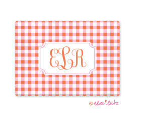 Printable Monogram Note Card Clementine