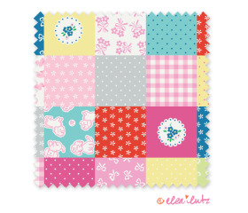 Strawberry Biscuit – Multi Color Cheater Quilt