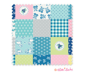 Strawberry Biscuit – Blue Cheater Quilt
