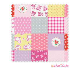 Strawberry Biscuit – Pink Color Cheater Quilt