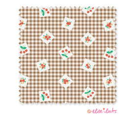Apple Farm – Brown Gingham
