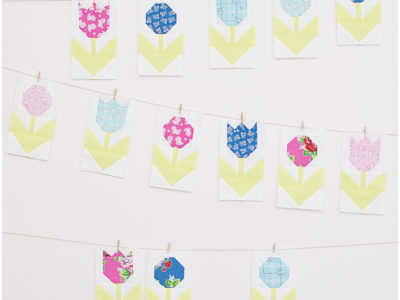 Pretty Playtime Quilt Along Flower Row Blocks