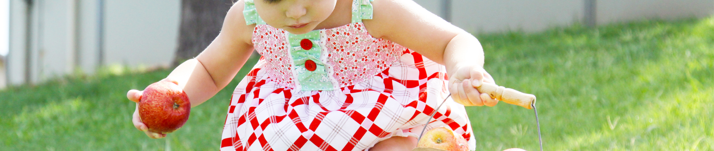 apple farm fabric by Elea Lutz