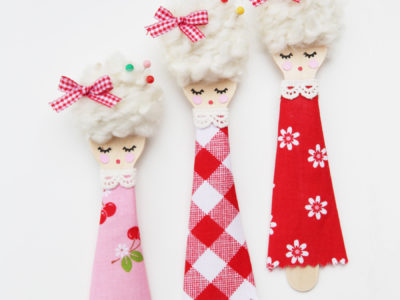 DIY Spoon Dolls: Sew Cherry 2